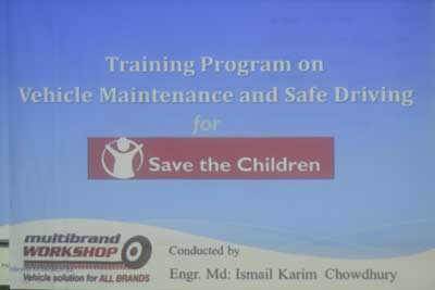 Training program on vehicle maintenance and safe driving for save the children-1